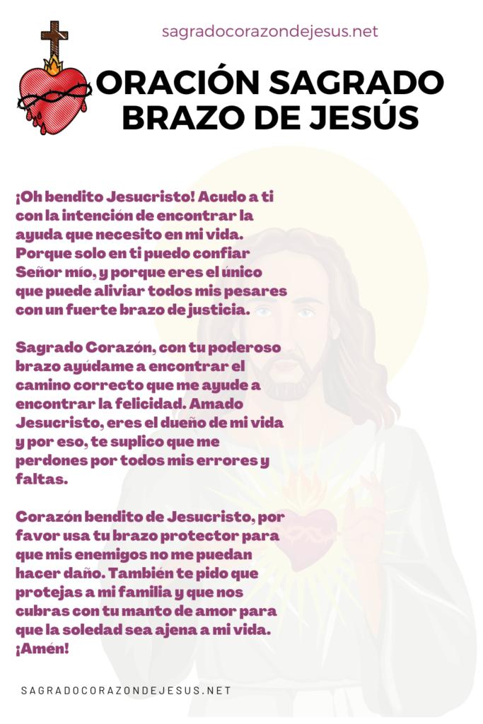 Oración al brazo poderoso del Sagrado Corazón de Jesús