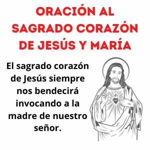 Oración a Jesús y María