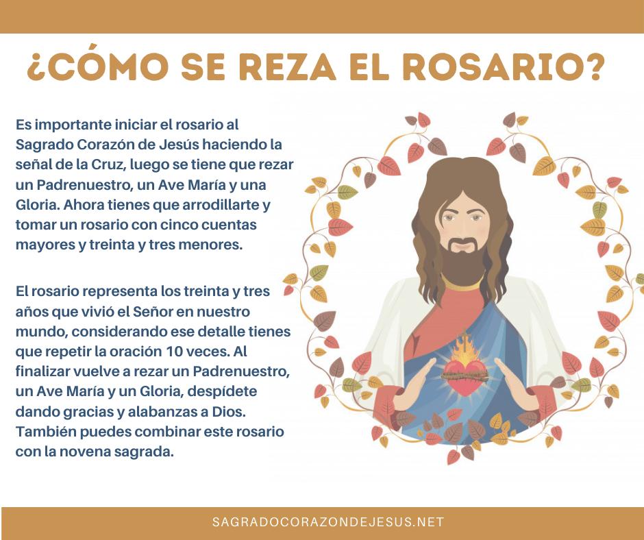 como rezar el rosario al sagrado corazón