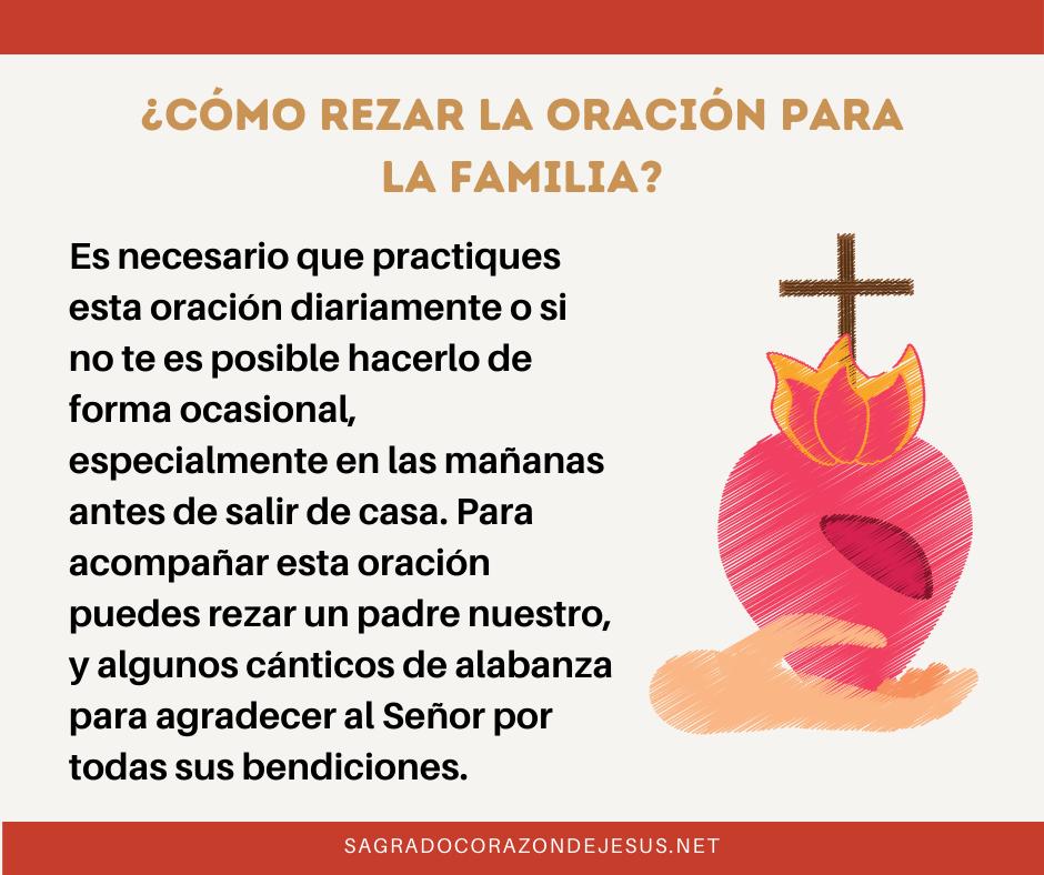 como rezar la oración para la familia
