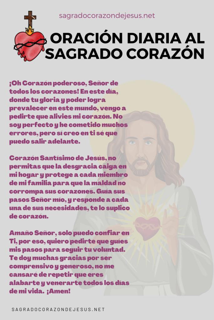 oración diaria al sagrado corazón de Jesús