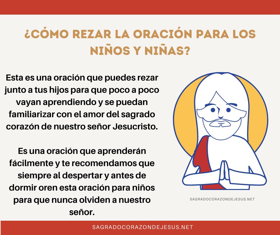 rezar sagrado corazón para niños