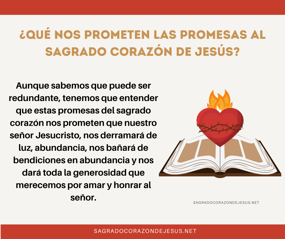 promesas del sagrado corazón de Jesús
