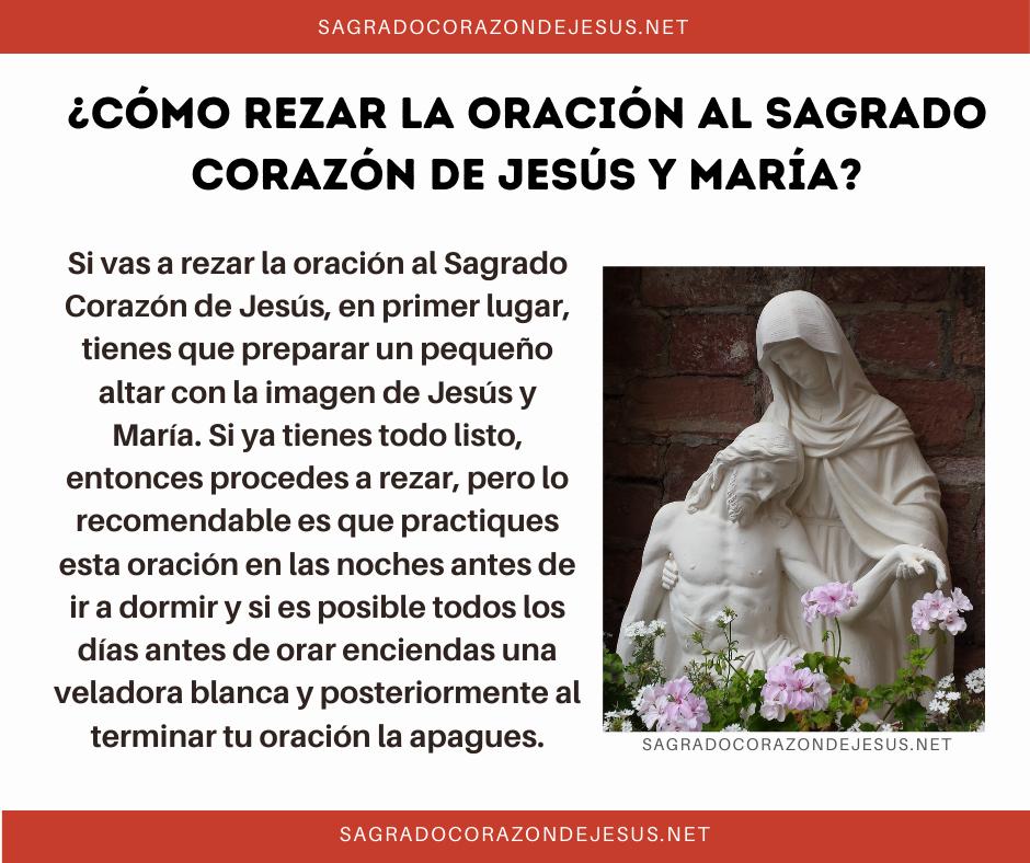 Cómo rezar al sagrado corazón de jesús y maría