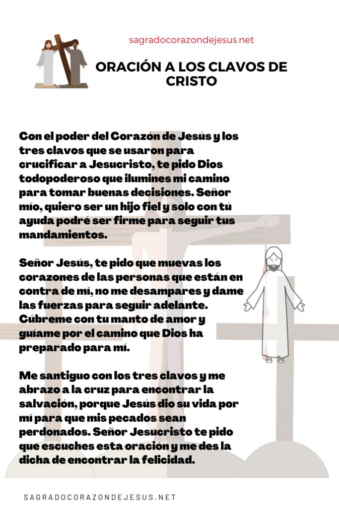 Oración a los clavos de cristo