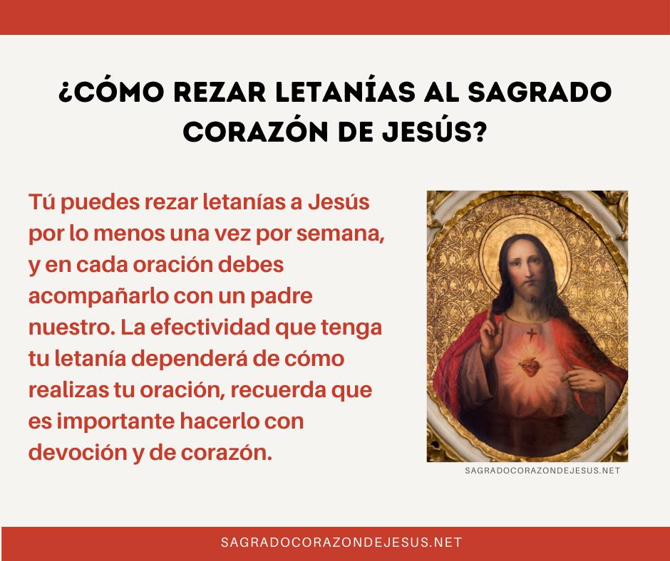 rezar letanía al sagrado corazon